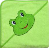 Kapuzenhandtuch grün mit Frosch